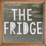 """""""The Fridge"""" Math Bulletin Board of Success!"""