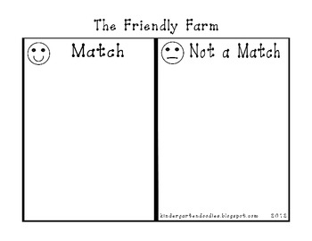 The Friendly Farm Sorting & Matching Activity