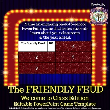 The Friendly Feud: Welcome to Class! Back to School Game