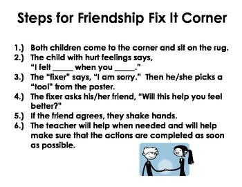 """""""Friendship Fix-It"""" Corner"""