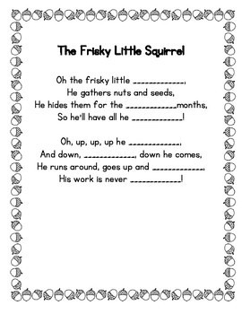 The Frisky Squirrel Poetry Center Pack