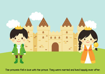 NO PREP! The Frog Prince Fairy Tales Story and Coloring BooK