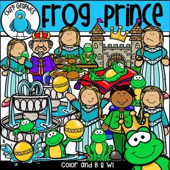 The Frog Prince Clip Art Set - Chirp Graphics