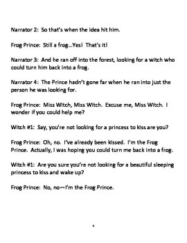 The Frog Prince Continued - A Readers' Theater