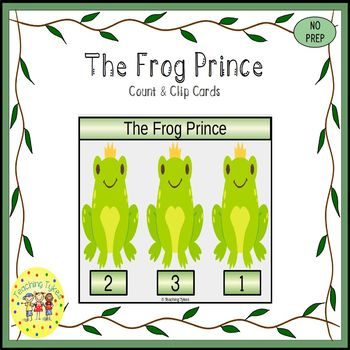 The Frog Prince Clip Task Cards
