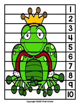 The Frog Prince (Fairy Tale) Skip Counting Number Puzzles