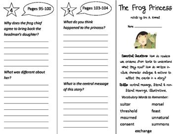 The Frog Princess Trifold - ReadyGen 2016 3rd Grade Unit 2 Module A