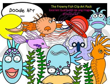 The Frowny Fish Clipart Pack