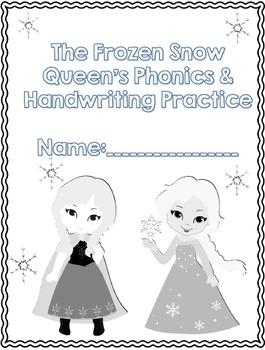 The Frozen Snow Queen's Phonics and Handwriting Practice