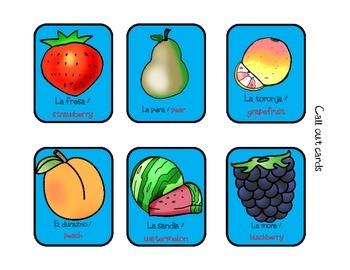 The Fruit bilingual games PreK & Kindergarten