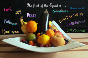 The Fruit of the Spirit Christian Inspirational Poster