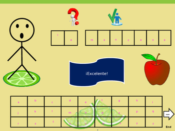 The Fruits-Hangman- Reading and Writing