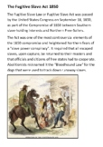 The Fugitive Slave Act Handout