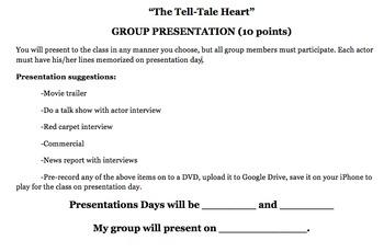 """The Tell Tale Heart"" Group Presentation - FUN!"