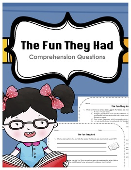 """""""The Fun They Had"""" by Isaac Asimov Supplemental Comprehension Questions"""