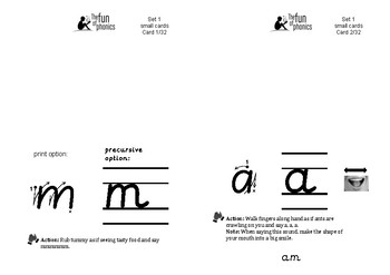 The Fun of Phonics flashcards - Set 1 A5 size
