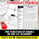 The Function of Banks in the U.S. Economy Reading Activity