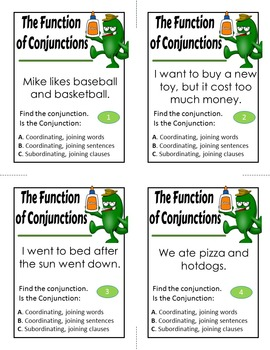 The Function of Conjunctions Activity