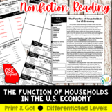 The Function of Households in the U.S. Economy Reading Act