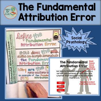 The Fundamental Attribution Error Activity