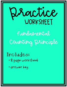 collection of fundamental counting principle worksheet bluegreenish. Black Bedroom Furniture Sets. Home Design Ideas