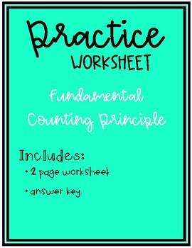 The Fundamental Counting Principle Worksheet