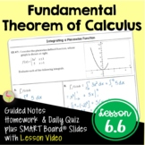 Fundamental Theorem of Calculus Definite Integrals with Le