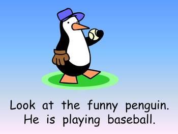 The Funny Penguins- Winter Kindergarten Shared Reading PowerPoint