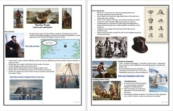 The Fur Trade: Contact and Colonization