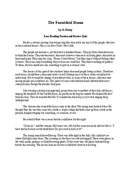 The Furnished Room - Easy Reading Version of an O. Henry Short Story + Quiz