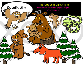 The Furry Child Clipart Pack
