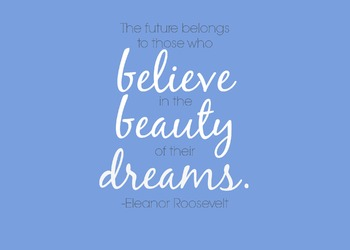 The Future Belongs To Those Eleanor Roosevelt Quote Printable Poster