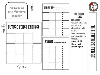 The Future Tense: Spanish Interactive Notebook Page
