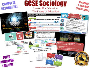 The Future of Education - Sociology of Education (GCSE Sociology - L19/20)