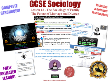 The Future of Marriage and Divorce [GCSE Sociology - L13/20] Families