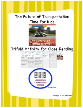 """The Future of Transportation"" Trifold Activity Reading Wo"