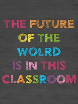 The Future of the World - Classroom Chalkboard Print
