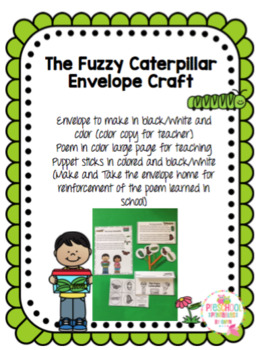 The Fuzzy Caterpillar Envelope Craft
