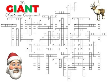 christmas crossword giant edition - Christmas Crossword Answers