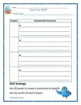 The GIST Strategy using Twitter