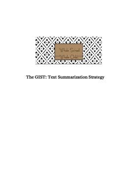 The GIST: text summarization strategy