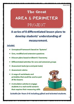 The GREAT Area, Perimeter & Volume Project- Differentiated Tasks!!
