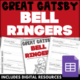 The Great Gatsby COMPREHENSION QUESTIONS Daily BELL RINGER