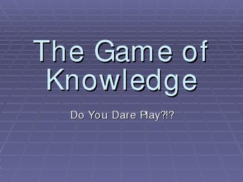 The Game of Knowledge (Review Game Template)