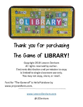 The Game of Library Bulletin Board
