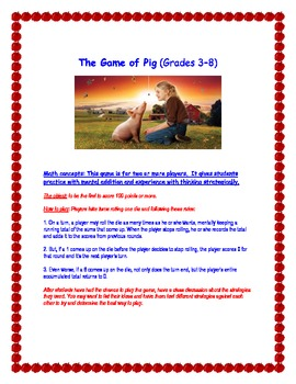 The Game of Pig
