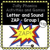 The Game of ZAP! - Jolly Phonics Group 1 Letters (s, a, t,
