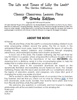 The Garden Gathering Classic Classroom Lesson Plans: 5th GRADE EDITION