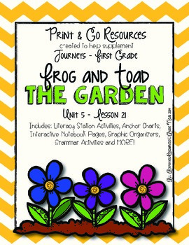The Garden - Journeys First Grade Print and Go