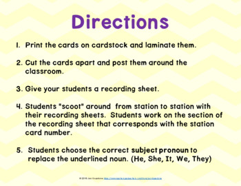 The Garden (Journeys L. 21, 1st Grade) SUBJECT PRONOUNS Grammar Task Cards